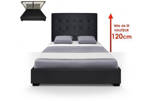 Httpswwwdeclikdecocom Httpswwwdeclikdecocom - Lit adulte 140x190 cm gaby coloris noir