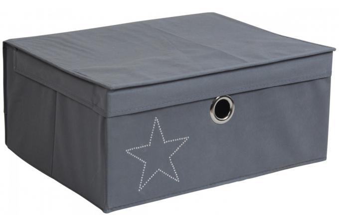 boite etoile 45x35x20cm bo te de rangement pas cher. Black Bedroom Furniture Sets. Home Design Ideas