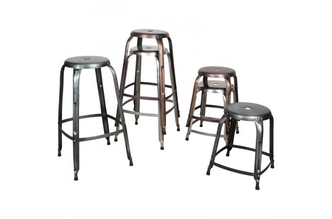 tabouret de bar rondo cuivre antique tabouret de bar pas. Black Bedroom Furniture Sets. Home Design Ideas