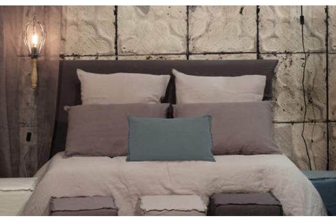 taie d 39 oreiller lin lave 65 x 65 corail housse de couette et taie d 39 oreiller pas cher. Black Bedroom Furniture Sets. Home Design Ideas