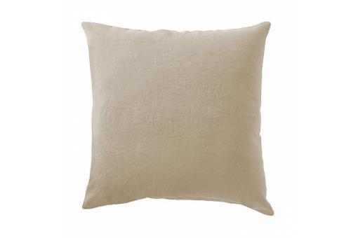 taie d 39 oreiller lin lave 65 x 65 ficelle housse de couette et taie d 39 oreiller pas cher. Black Bedroom Furniture Sets. Home Design Ideas