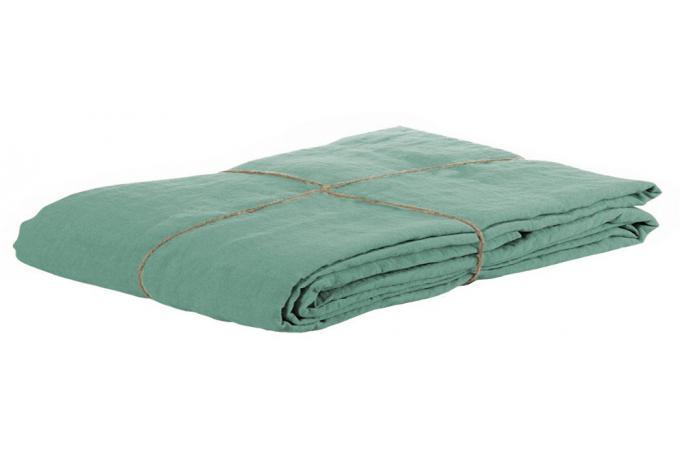 taie d 39 oreiller lin lave 65 x 65 jade housse de couette et taie d 39 oreiller pas cher. Black Bedroom Furniture Sets. Home Design Ideas