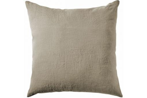Taie D'Oreiller Lin Lave 65 X 65 Taupe