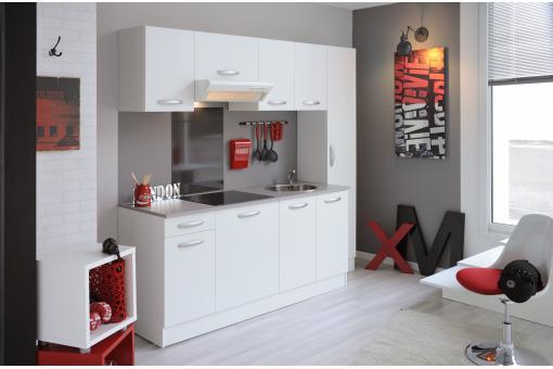 bloc de cuisine blanc deco design. Black Bedroom Furniture Sets. Home Design Ideas