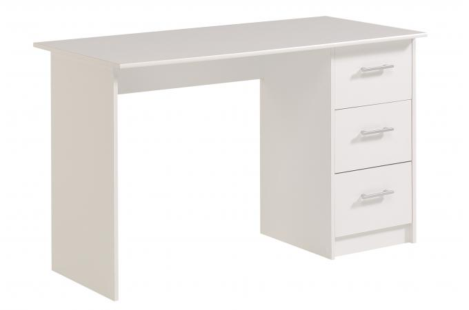 Bureau blanc avec 3 tiroirs bureau pas cher - Bureau blanc avec tiroir ...