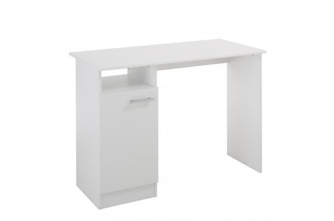 Bureau blanc avec rangement meuble de rangement pas cher for Rangement bureau blanc