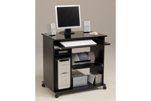 Bureau D'Ordinateur Pop Noir Brillant