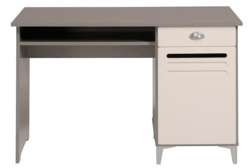 bureau industrie gris et blanc bureau pas cher. Black Bedroom Furniture Sets. Home Design Ideas