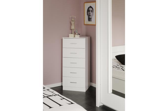chiffonnier blanc meuble de rangement pas cher. Black Bedroom Furniture Sets. Home Design Ideas