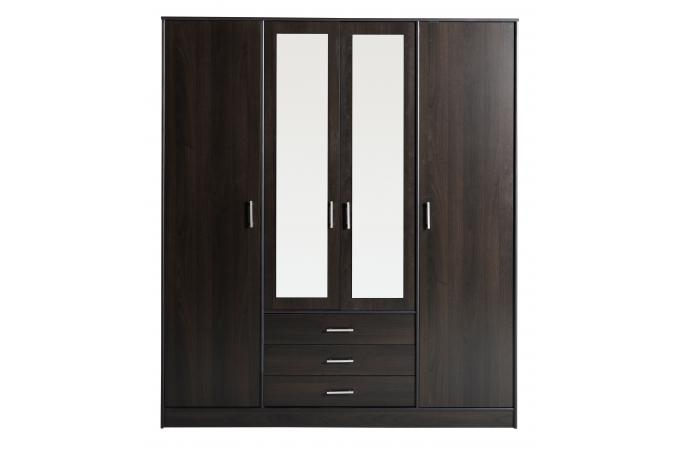 dressing miroir avec 4 portes de penderies 3 tiroirs. Black Bedroom Furniture Sets. Home Design Ideas