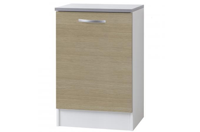 Element bas de cuisine 1 porte ch ne meuble de rangement for Porte cuisine chene