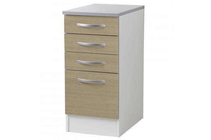element bas de cuisine 3 tiroirs ch ne meuble de rangement pas cher. Black Bedroom Furniture Sets. Home Design Ideas