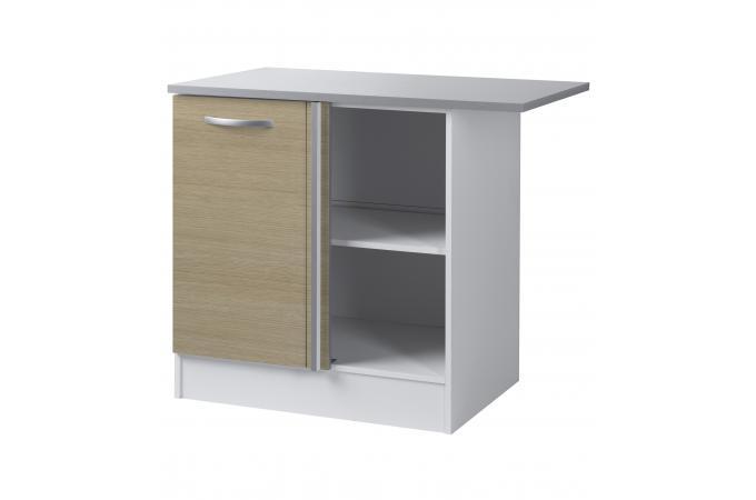 Element bas de cuisine d 39 angle ch ne meuble de rangement for Element rangement cuisine