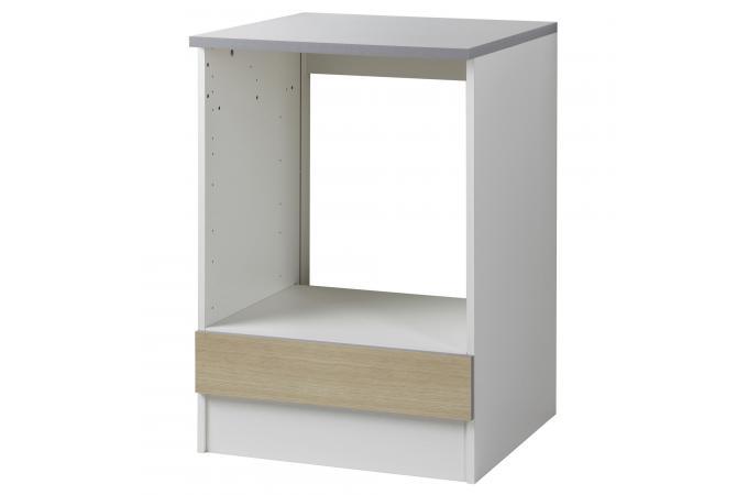 element bas de cuisine four avec tablette amovible ch ne. Black Bedroom Furniture Sets. Home Design Ideas
