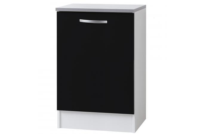 element bas de cuisine noir meuble de rangement pas cher. Black Bedroom Furniture Sets. Home Design Ideas