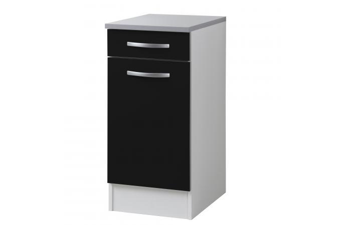 element bas de cuisine bois noir meuble de rangement pas. Black Bedroom Furniture Sets. Home Design Ideas