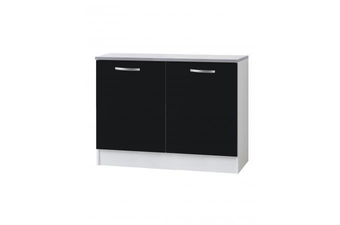 element bas de cuisine sous vier 2 portes noir meuble de rangement pas cher. Black Bedroom Furniture Sets. Home Design Ideas