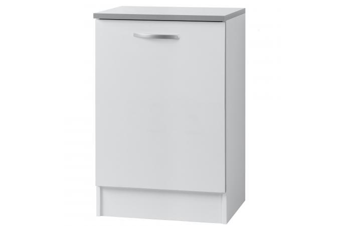 Element de bas de cuisine 1 porte blanc meuble de for Element de cuisine blanc