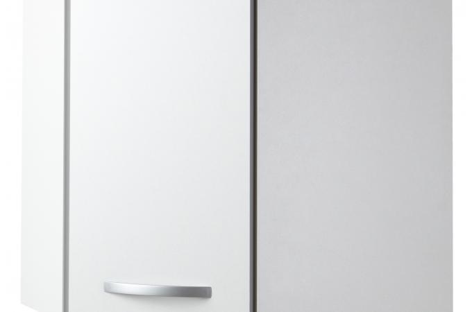 Element de haut de cuisine d 39 angle blanc meuble de for Element de cuisine pas cher blanc