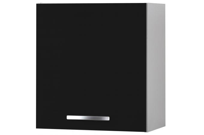 Element Haut Cuisine : Element haut de cuisine noir meuble rangement pas cher
