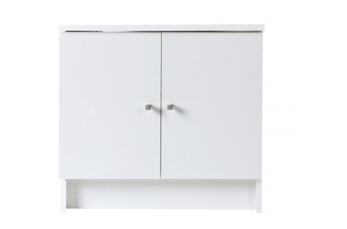 Meuble de salle de bain sous vasque blanc meuble salle - Ikea meuble sous vasque salle de bain ...
