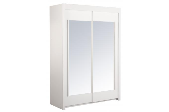 penderie avec 2 portes coulissantes blanches klik meuble de rangement pas cher. Black Bedroom Furniture Sets. Home Design Ideas