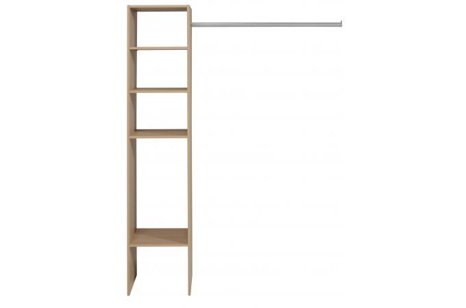 penderie dressing avec tag re de rangement couleur bois meuble de rangement pas cher. Black Bedroom Furniture Sets. Home Design Ideas