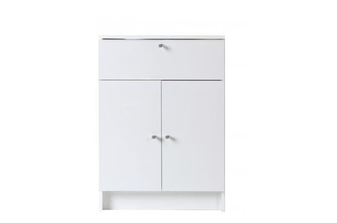 Petite armoire de salle de bain blanche meuble salle de for Meuble de rangement salle de bain pas cher