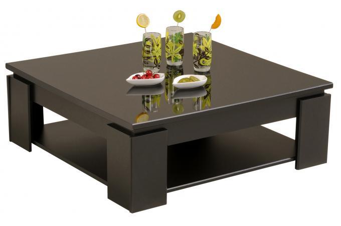 table basse en melamine brillante noire tertio table basse pas cher. Black Bedroom Furniture Sets. Home Design Ideas
