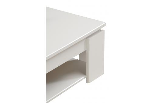 Table Basse Brillante Blanche Megeve Tertio