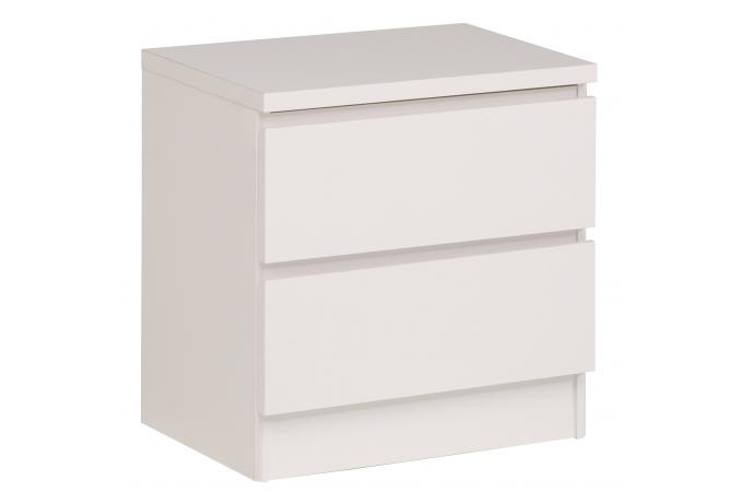 Table de chevet 2 tiroirs blanche sweet table de chevet pas cher - Table de chevet blanche ...