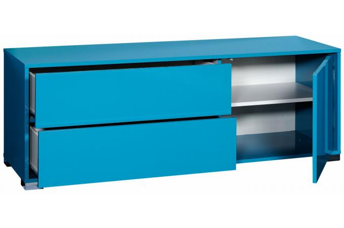 Bahut bas 3 portes ouvrantes 1 tiroir n 29 bleu turquoise for Salon uv porte de chatillon