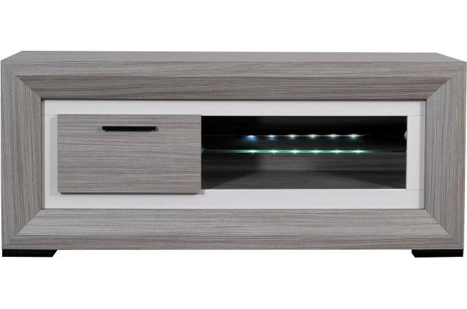 Banc tv hifi 1 porte coulissante myna meuble tv pas cher for Banc tv hifi