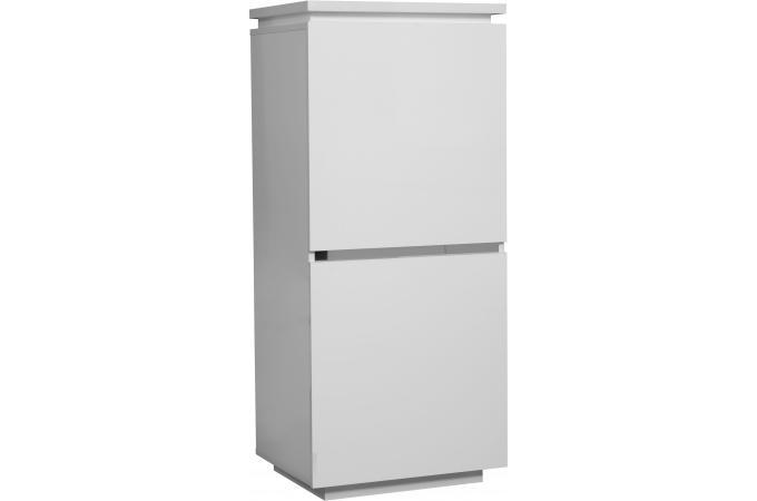 Element rangement 2 portes blanc laque electrik meuble de rangement pas cher - Rangement blanc laque ...