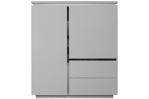 Element rangement blanc laque electrik meuble de rangement pas cher - Rangement blanc laque ...