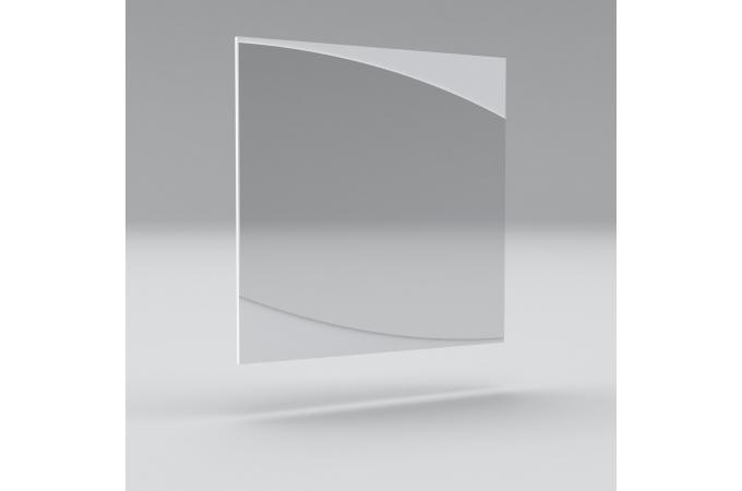 Miroir n 23 laqu blanc et d cor gris fonc esche prato for Miroir carre blanc