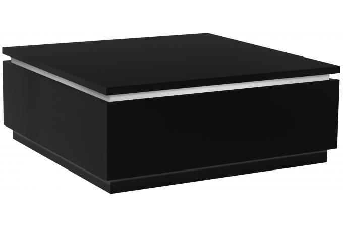table basse noire avec rangement. Black Bedroom Furniture Sets. Home Design Ideas