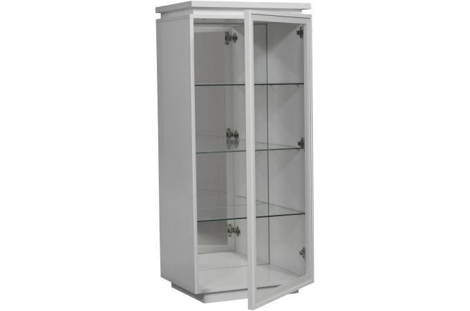 vitrine 1 porte blanc laque electrik meuble de rangement pas cher. Black Bedroom Furniture Sets. Home Design Ideas