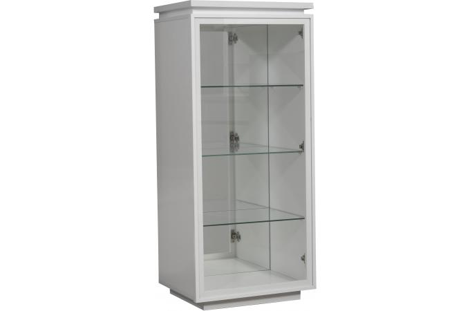 vitrine 1 porte blanc laque electrik meuble de rangement pas cher. Black Bedroom Furniture Sets. Home Design Ideas