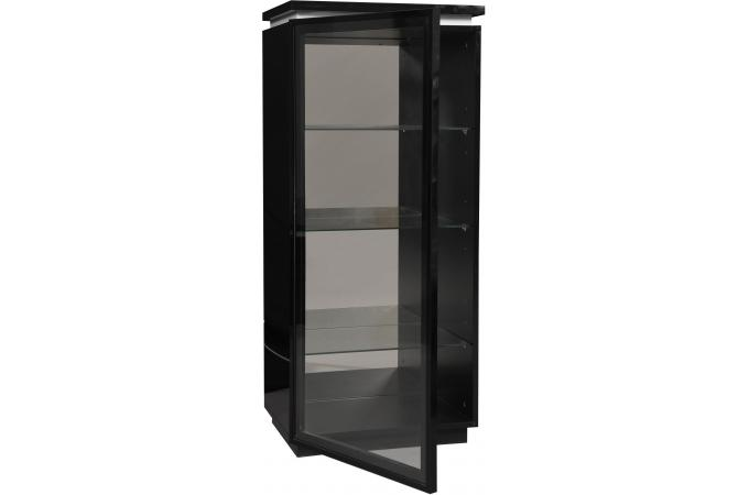 vitrine 1 porte noir electrik meuble de rangement pas cher. Black Bedroom Furniture Sets. Home Design Ideas