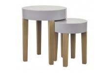 Table d'Appoint Table gigogne grise en bois Ulrich, deco design