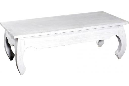 table basse rectangulaire bois blanche lintea table basse pas cher. Black Bedroom Furniture Sets. Home Design Ideas