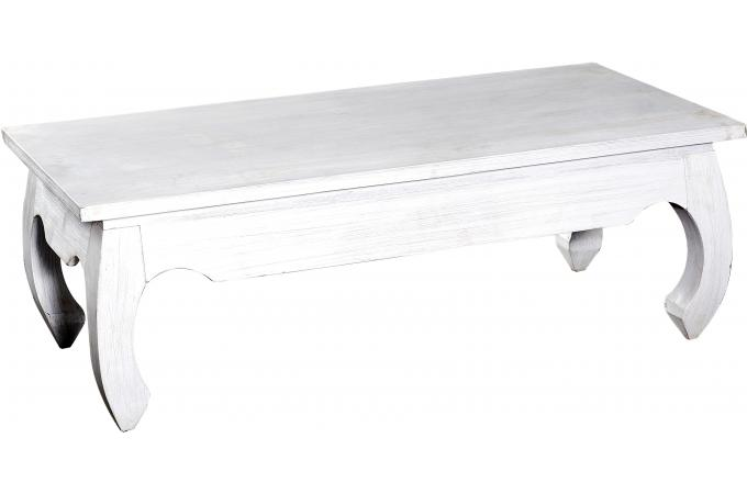 Table Basse Rectangulaire Bois Blanche Kabaena Table Basse Pas Cher