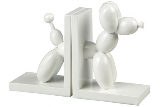 serre livres chien ballon blanc statue design pas cher. Black Bedroom Furniture Sets. Home Design Ideas