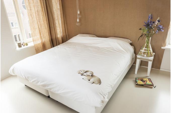 Housse de couette blanche mouton 220 x 240 cm housse de for Housses de couette blanche