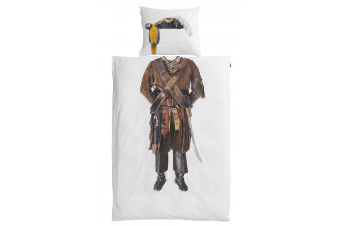 parure coton pirate housse de couette 140x200 et 1 taie. Black Bedroom Furniture Sets. Home Design Ideas