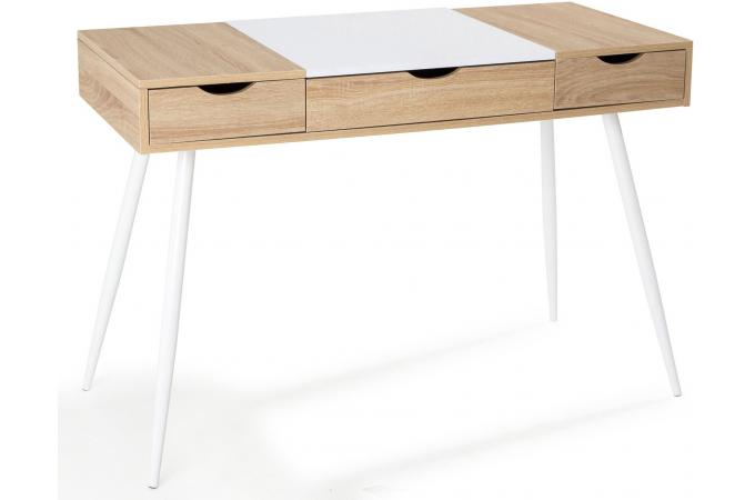 bureau scandinave bois et blanc learn bureau pas cher. Black Bedroom Furniture Sets. Home Design Ideas