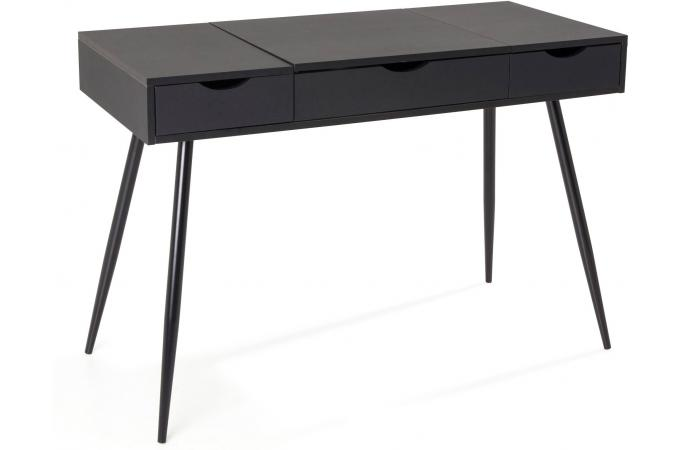 bureau scandinave bois noir learn bureau pas cher. Black Bedroom Furniture Sets. Home Design Ideas