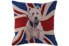 Coussin White Dog 45 X 45 Cm - Coussin multicolore