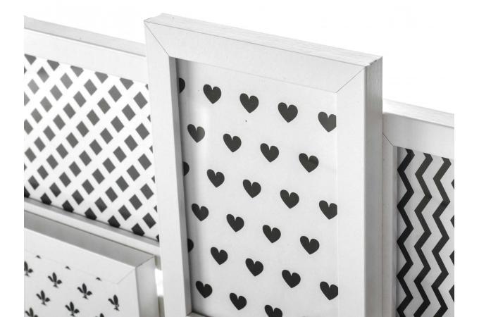 ensemble de 6 cadres photos blanc 31 50 x 3 x 58 50 cm famille cadre photo pas cher. Black Bedroom Furniture Sets. Home Design Ideas